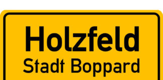 Ortsschild Holzfeld