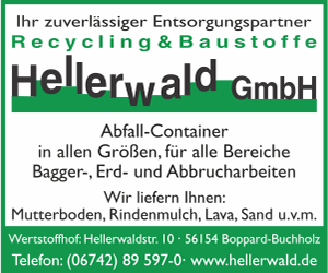 Hellerwald GmbH, Boppard - Container, Entsorgung, Recycling, Baustoffe