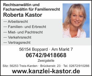 Rechtsanwältin Kastor, Boppard - Treis-Karden