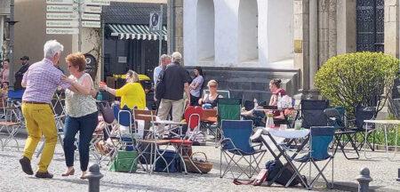 Muttertagskaffee auf dem Bopparder Marktplatz